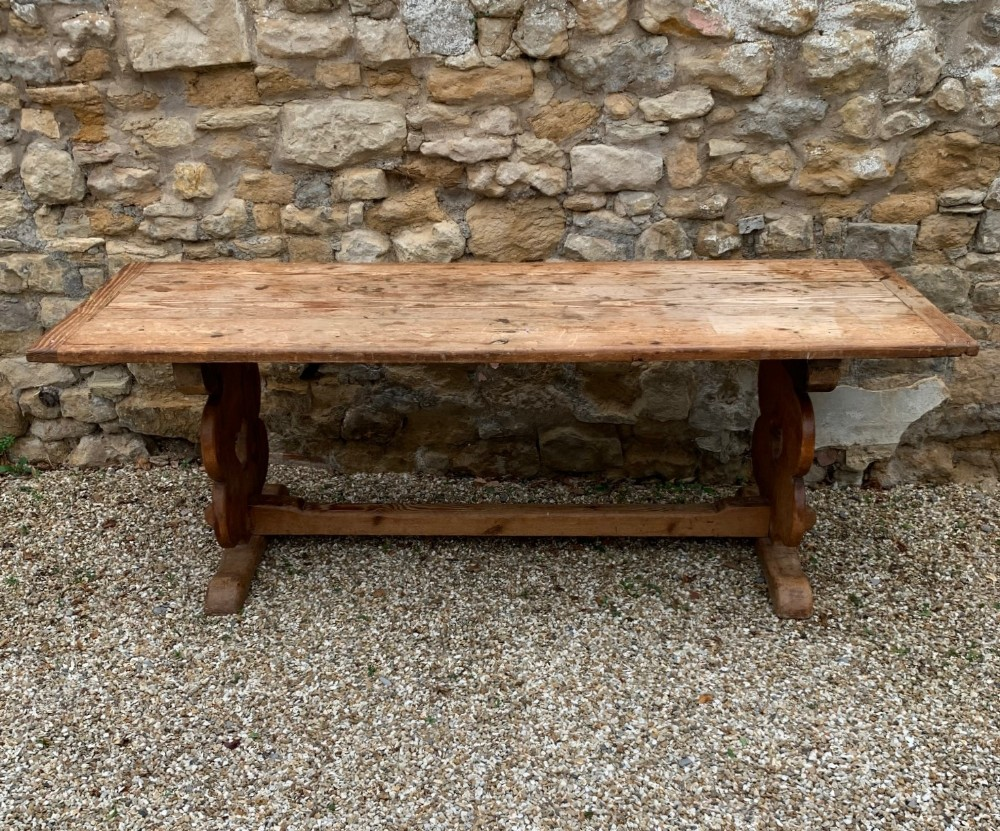 an arts and crafts pine table west country circa 1910