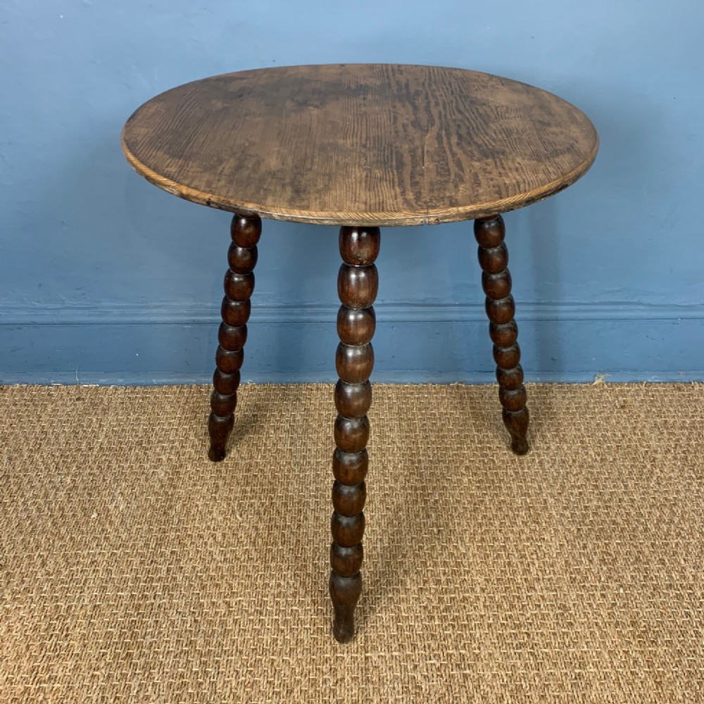 a victorian pine cricket table circa 1890