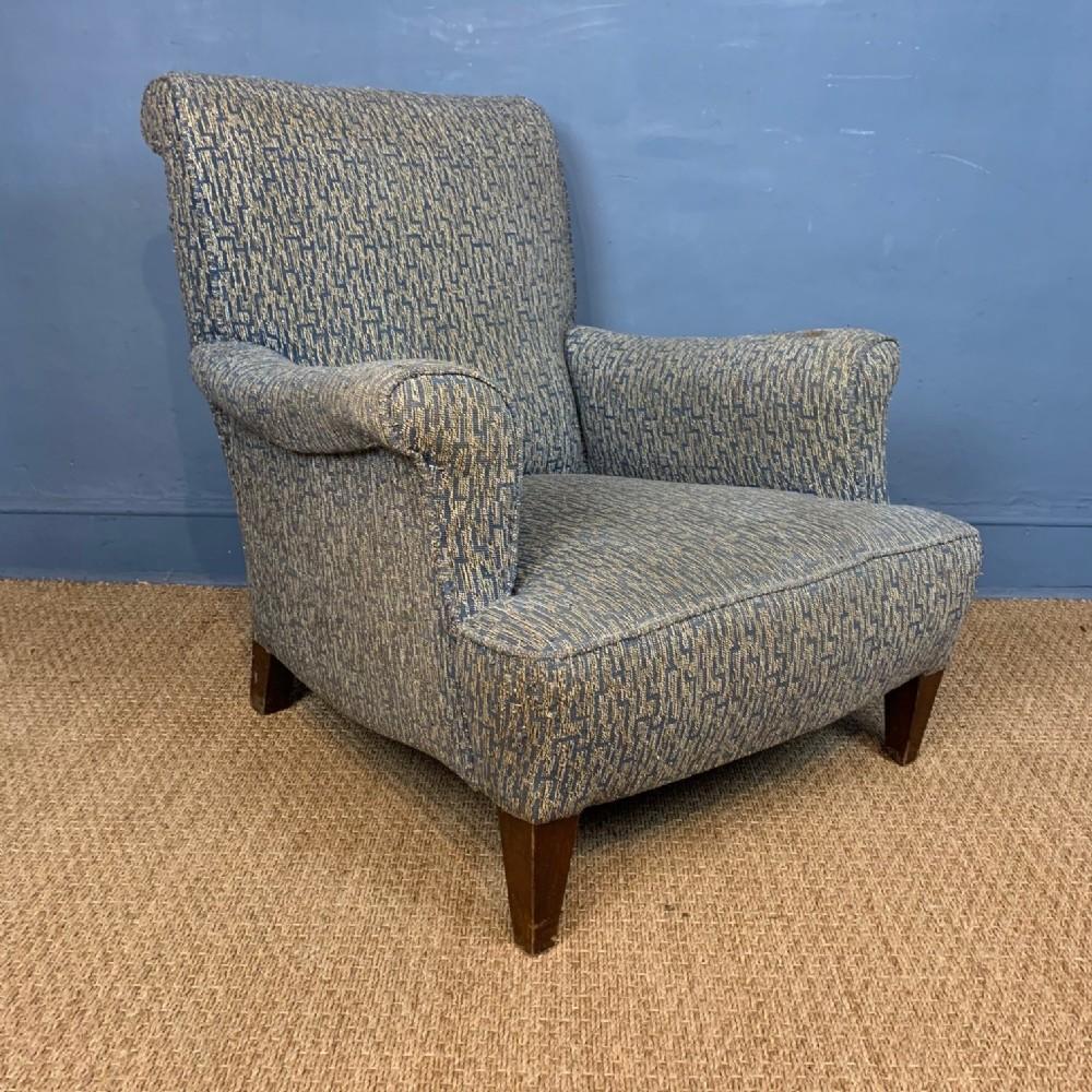 an edwardian mahogany howard style armchair circa 1910