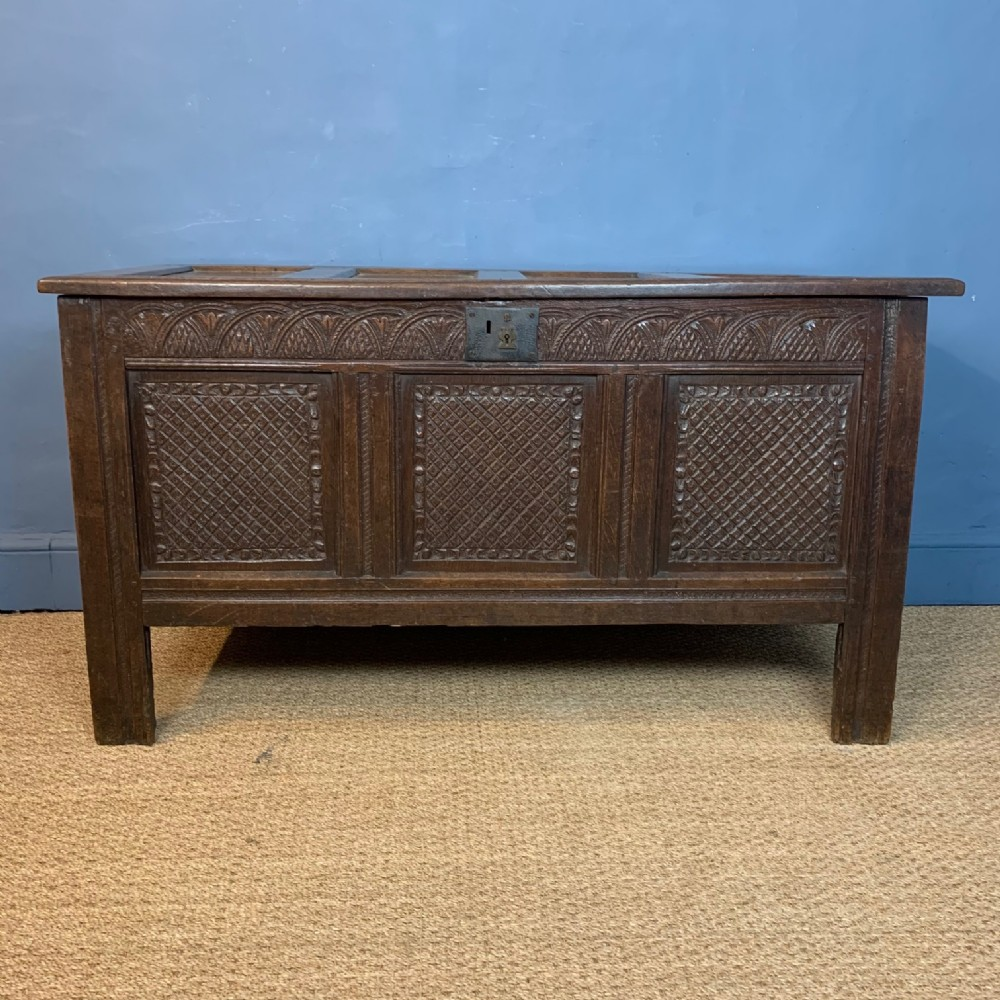 a charles 11 oak west country coffer circa 1670