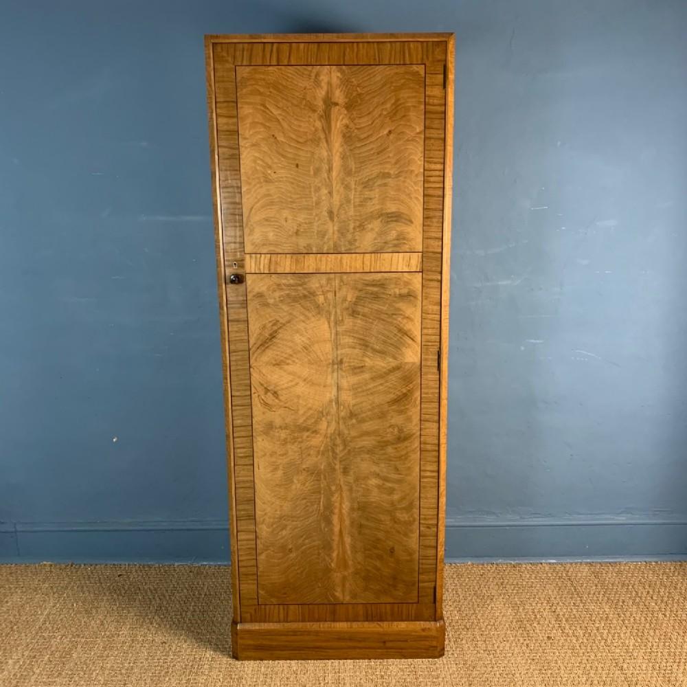 a heals walnut single door wardrobe circa 1930
