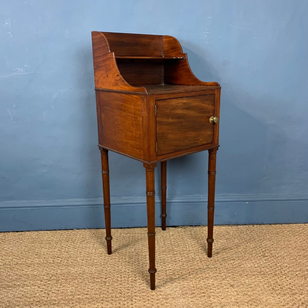 a george 111 mahogany bedside table circa 1800