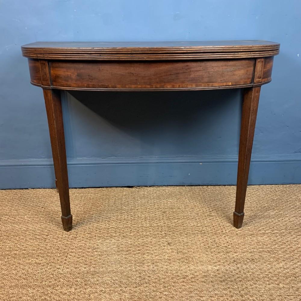 a george 111 mahogany d shaped tea table circa 1810