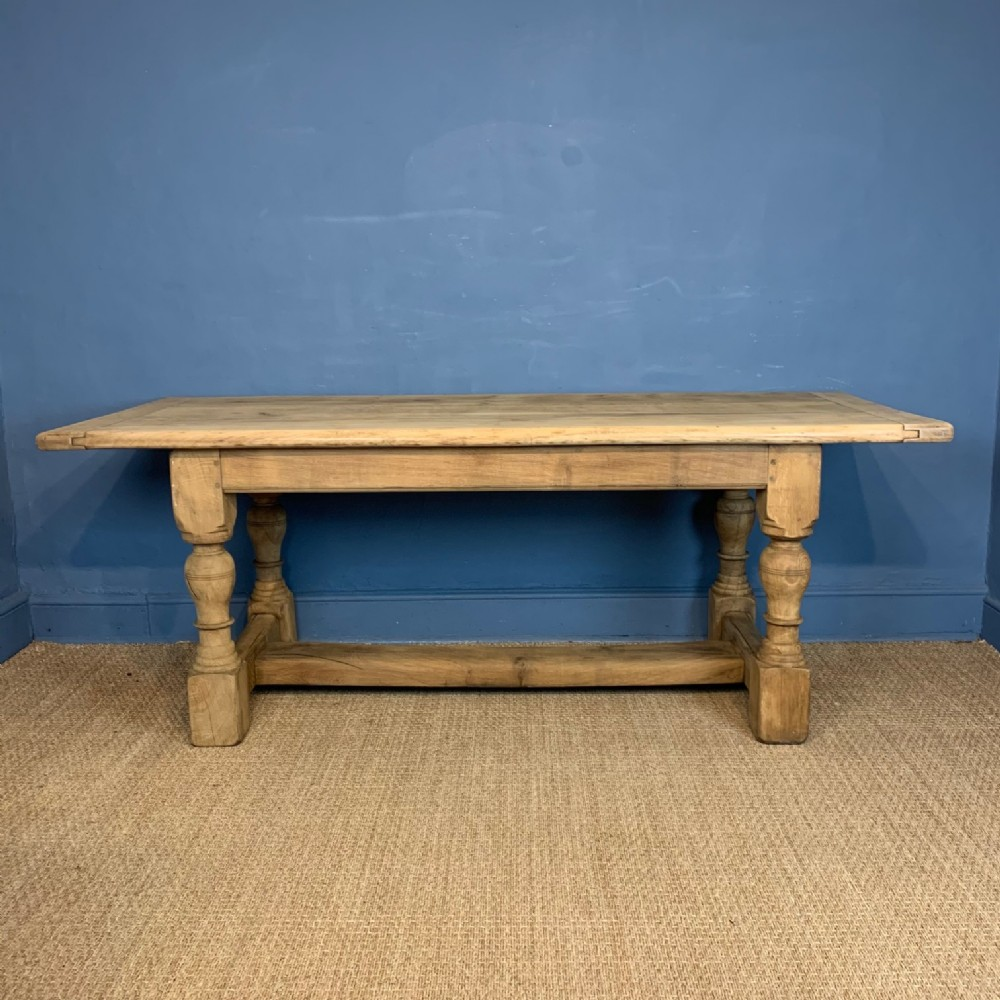 an arts and crafts bleached oak refectory table circa 1910