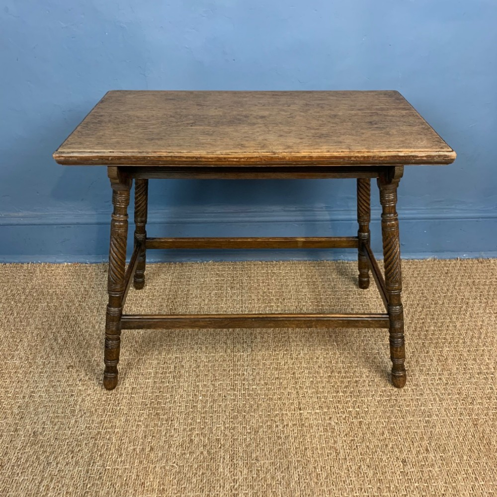 an aesthetic movement oak rectangular table circa 1880 by c hindley and sons