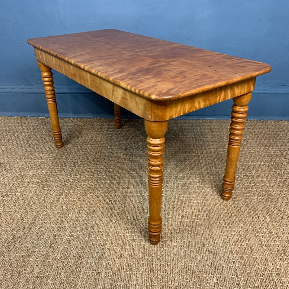 a late victorian birchwood low table circa 1890