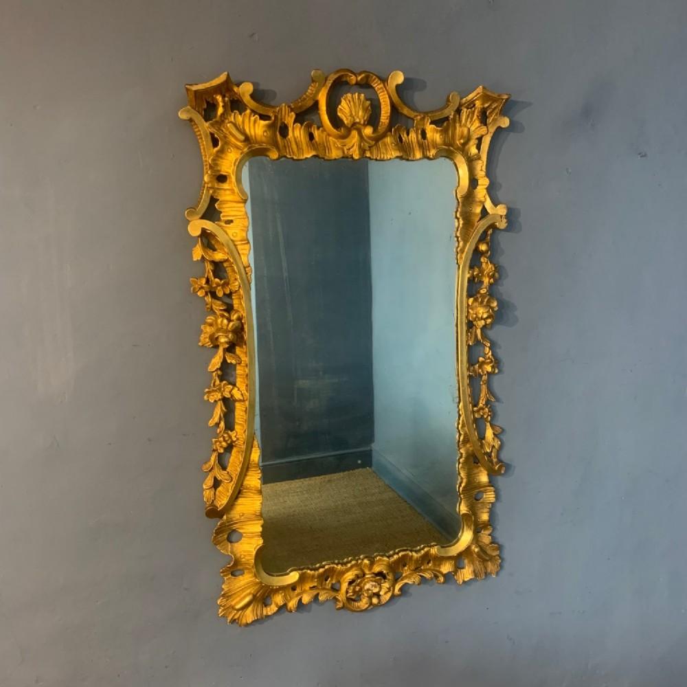 a large late 19th c chippendale rococo design gilt wall mirror circa 1890