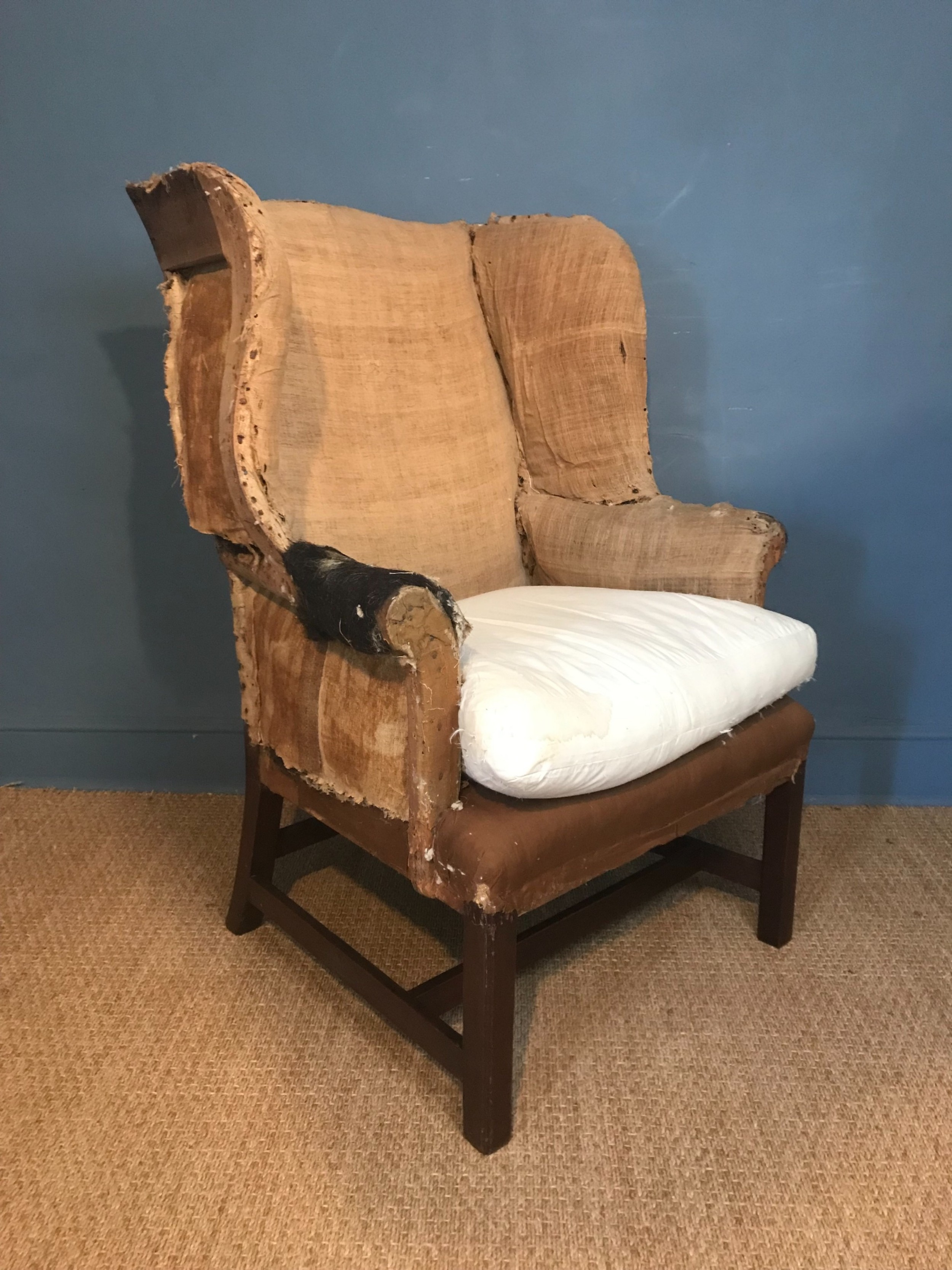 a george 111 mahogany wing chair circa 1780 for reupholstery
