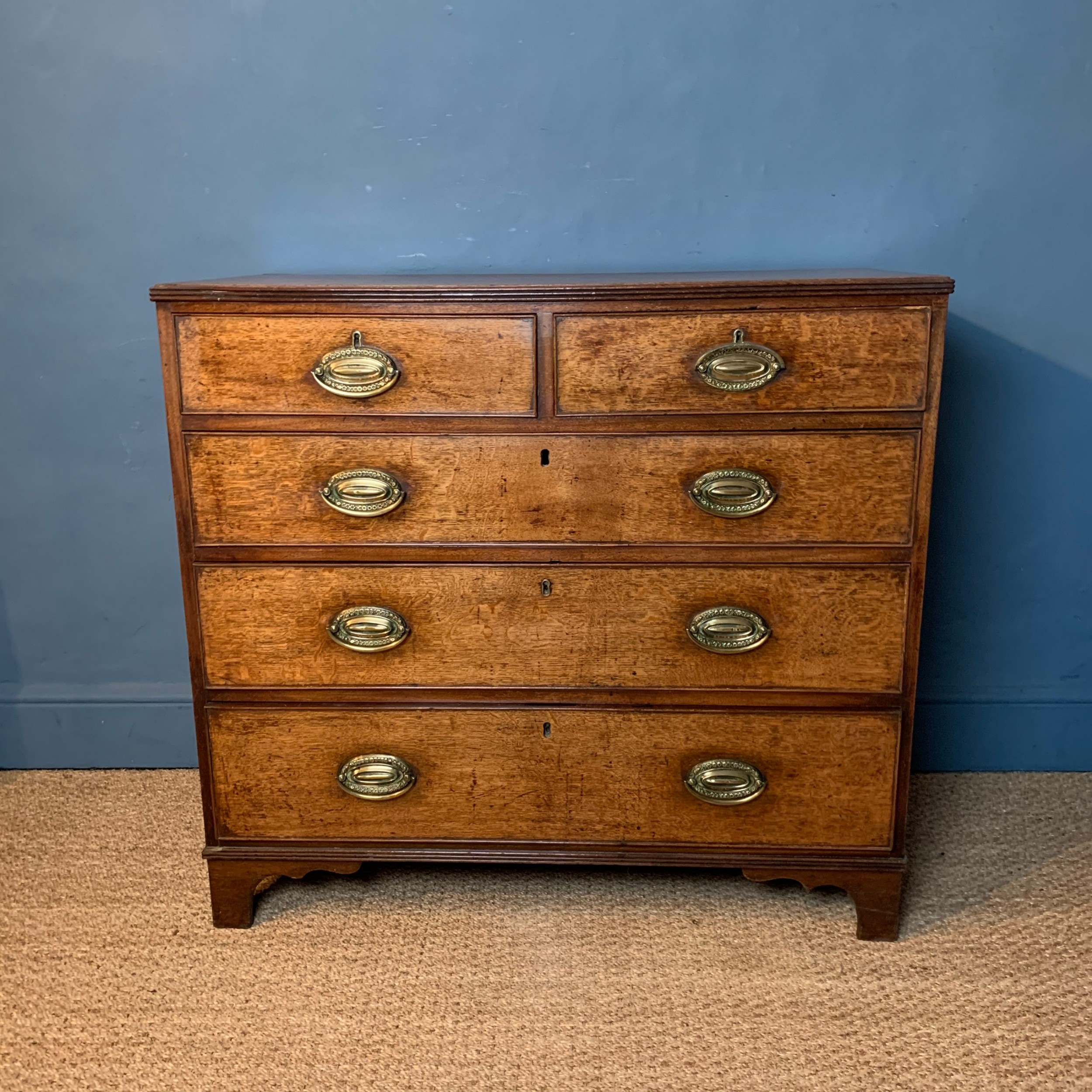 a george 111 oak chest of drawers circa 1820