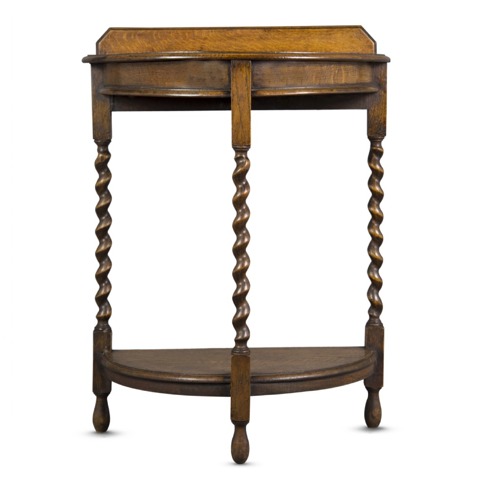 Foyer Table Uk : Blond oak demi lune small hall table