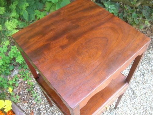 georgian mahogany square washstand - photo angle #2