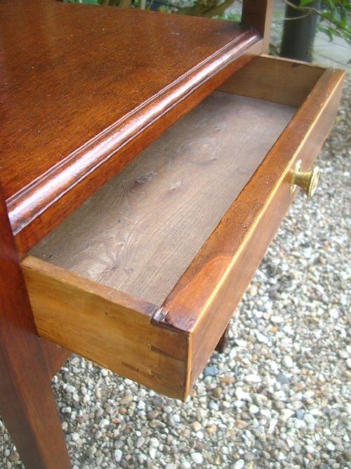 georgian mahogany square washstand - photo angle #3