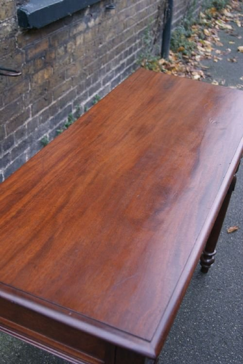 mahogany serving or hall table - photo angle #3