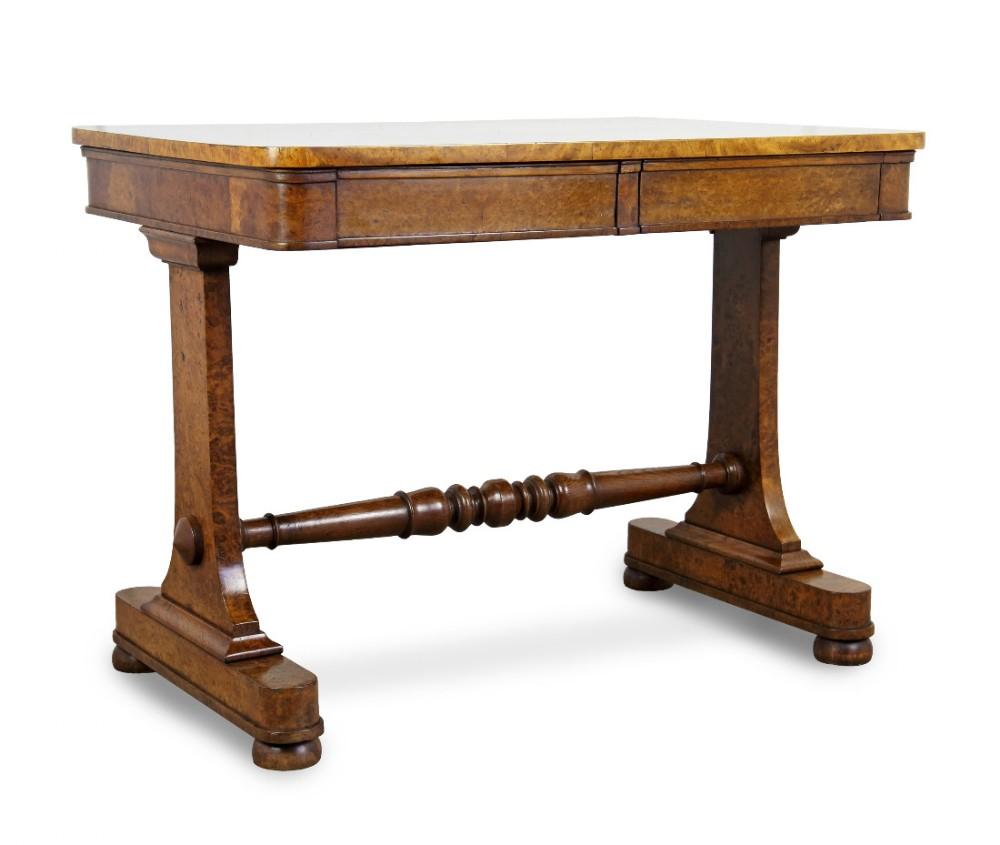 william iv pollard oak library table