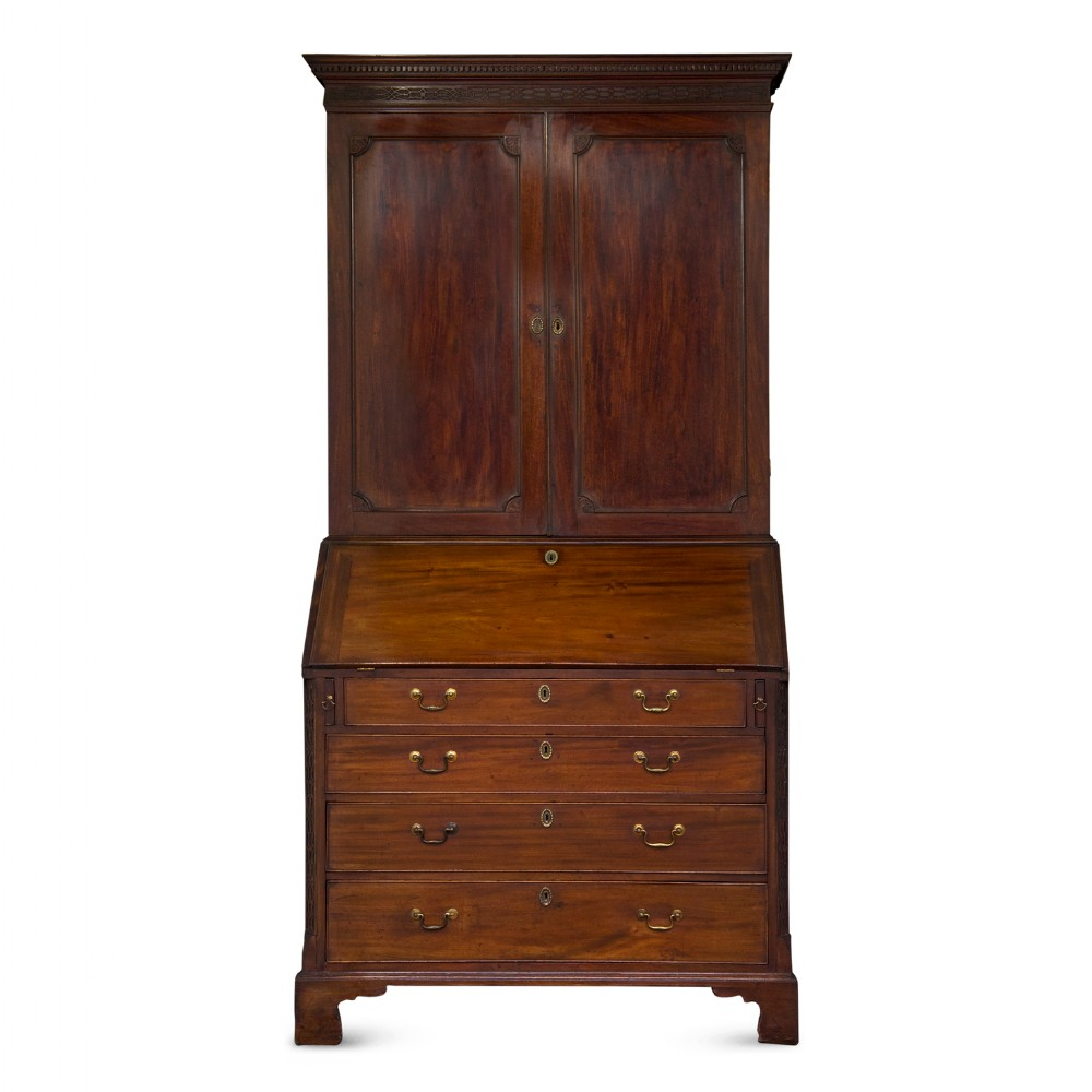 george iii period mahogany bureau bookcase