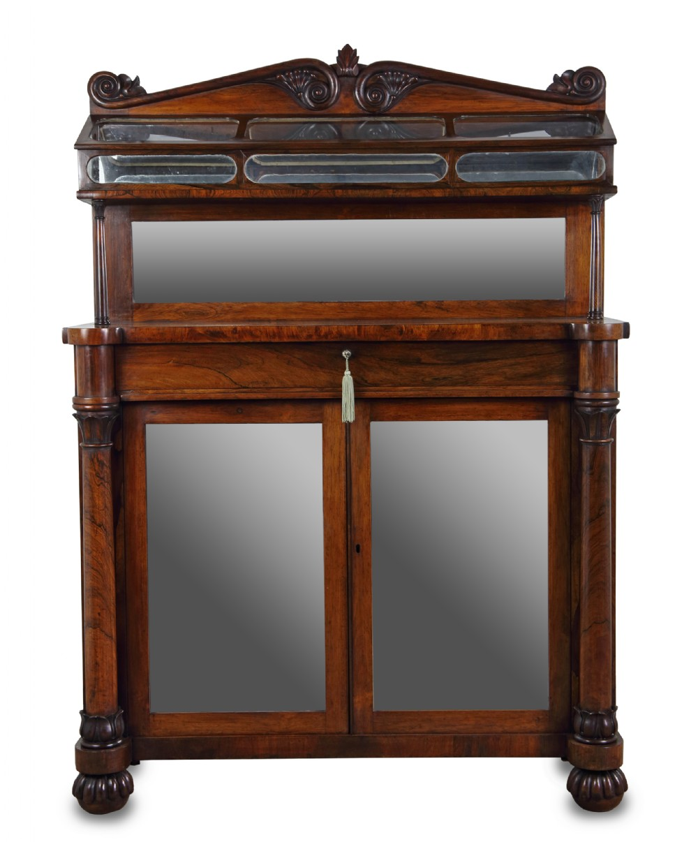 george iv rosewood chiffonier collector's cabinet
