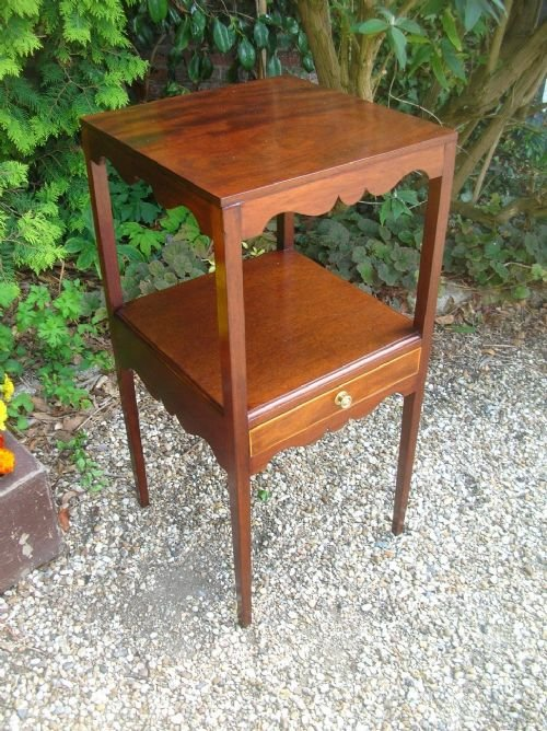 georgian mahogany square washstand