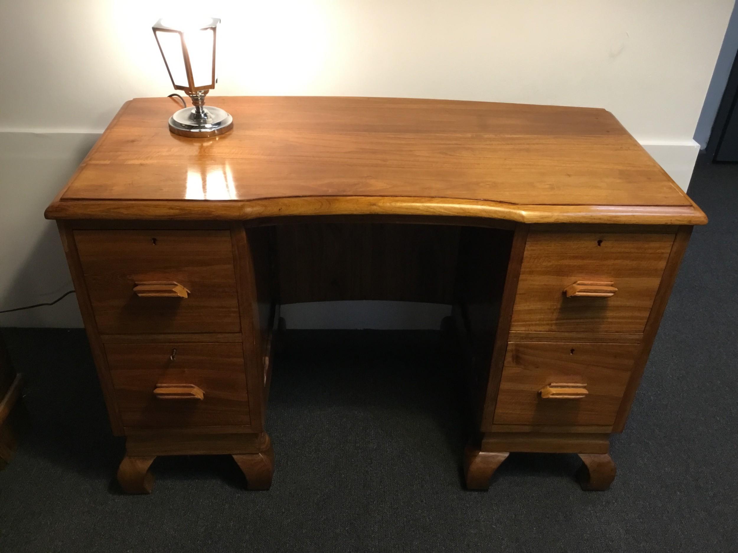 art deco pedestal desk