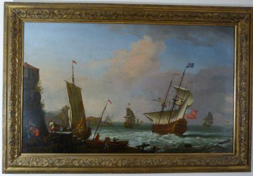 soldan english flagship off a port c1705 by tobias stranover