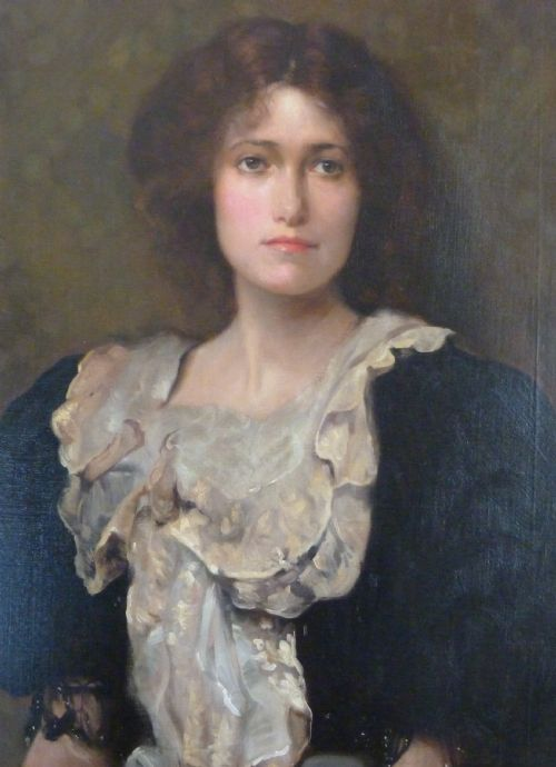 soldportrait of a young lady c1910 by ambrose mcevoy - photo angle #2