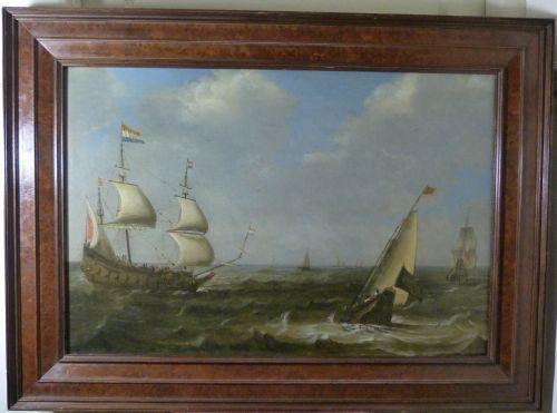dutch shipping in choppy waters c1650 by claes claesz wou