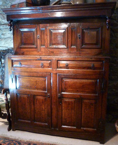 oak court cupboard c1740