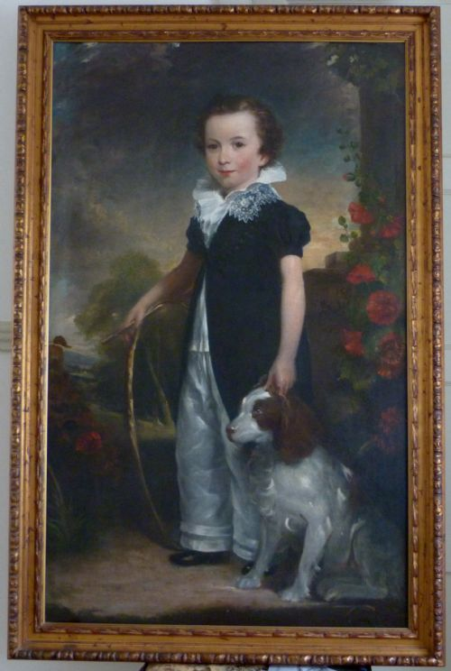 portrait of a young boy and his dog c 1820 circle of sir thomas beechey