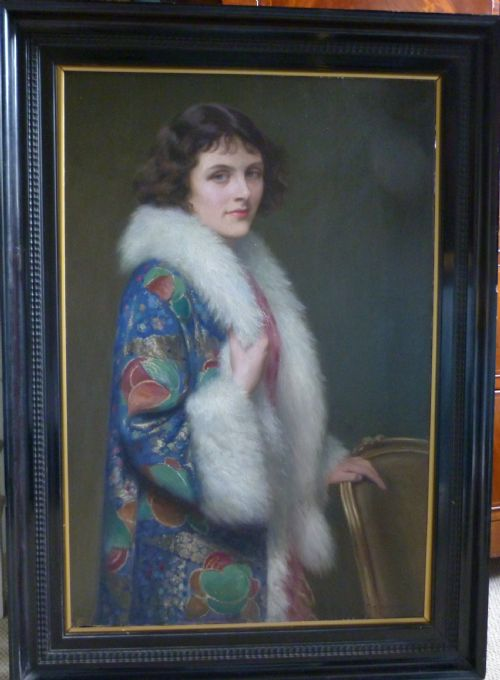 Thumbnail picture of: Portrait of a Young Lady 1920s; by Thomas William Holgate R.B.A.