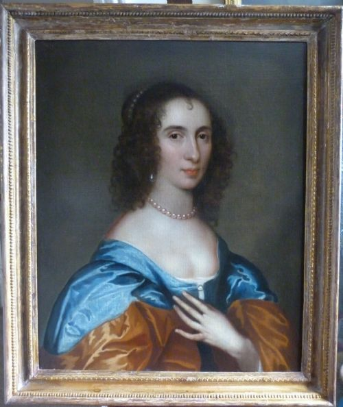 Thumbnail picture of: Portrait of Bridget Croft, later Mrs. Reade c. 1635;Attributed to Adriaen Hanneman.
