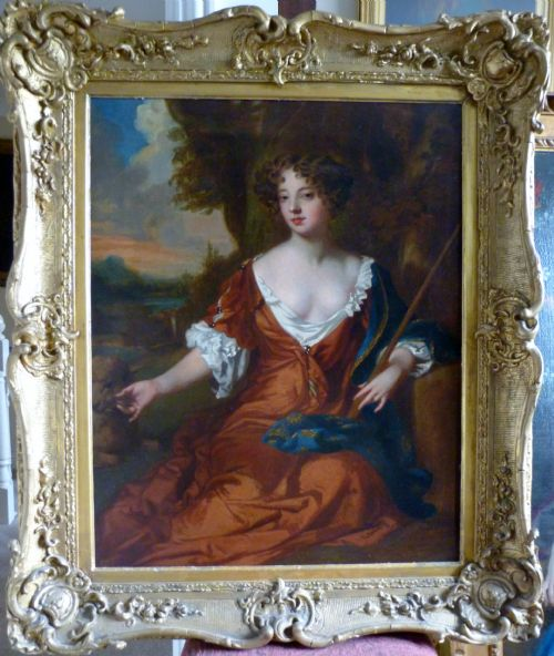 Thumbnail picture of: Portrait of Louise de Keroualle, Duchess of Portsmouth c.1671; by Mary Beale.