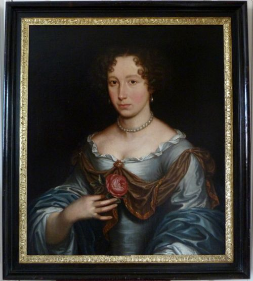 Thumbnail picture of: Portrait of a Lady c.1680; Circle of John Michael Wright.