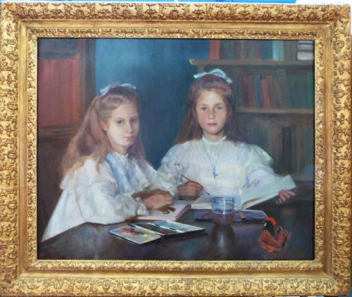 Thumbnail picture of: Double Portrait of Eleanor and Margaret Little 1905, by Alexander MacDonald.