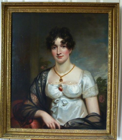 Thumbnail picture of: Portrait of a Lady c.1810; Circle of Sir Thomas Lawrence P.R.A.
