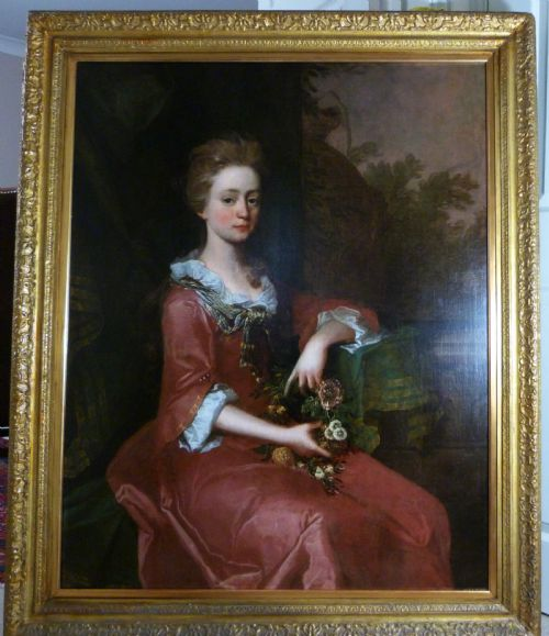 Thumbnail picture of: Portrait a Young Lady in Red c.1700; Circle of Sir Godfrey Kneller.