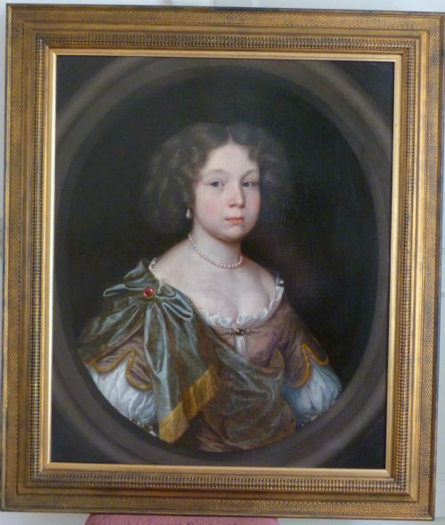 Thumbnail picture of: Portrait of a Young Lady c.1675; Circle of John Michael Wright.