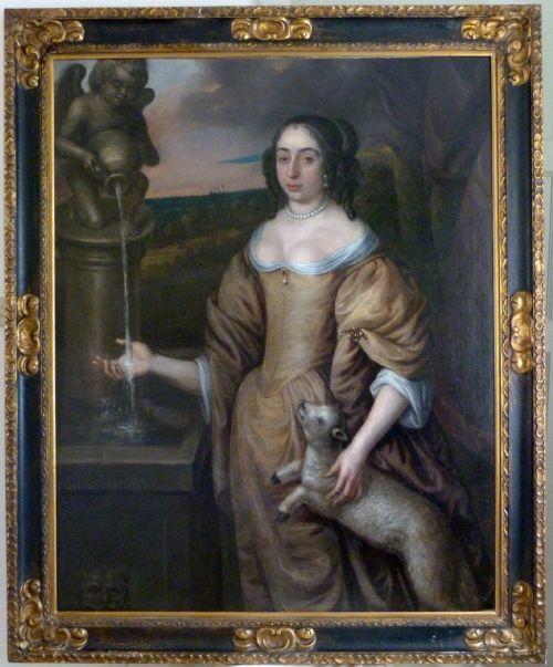 portrait of elizabeth countess of carnarvon c1650 attributed to david des granges