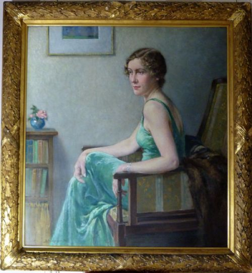 Thumbnail picture of: Portrait of Miss Kathleen Bell 1936, by Bertram Priestman R.A.