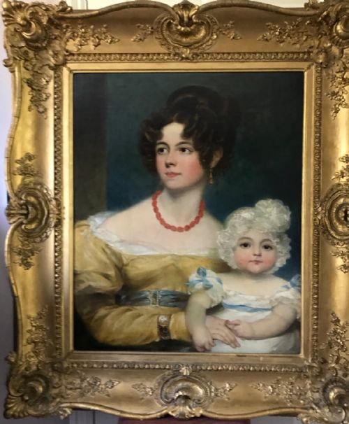 Thumbnail picture of: Portrait of a Lady and her Child c.1818; By George Henry Harlow.