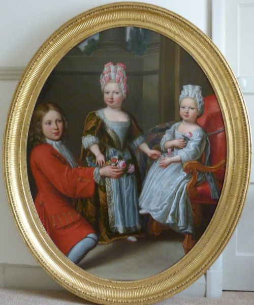 portrait of three french aristocratic children c1690 attributed to pierre mignard