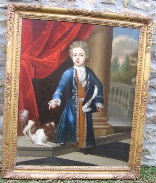 portrait of a young boy and his spaniel c1710 by charles d'agar