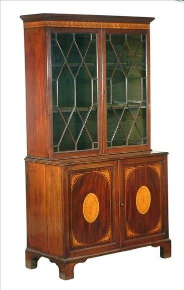 late georgian mahogany bookcase cabinet c17901810