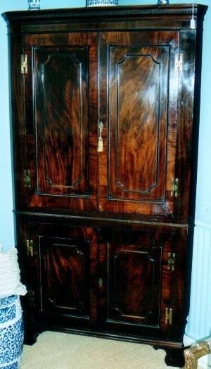 george iii mahogany corner cupboard c1770