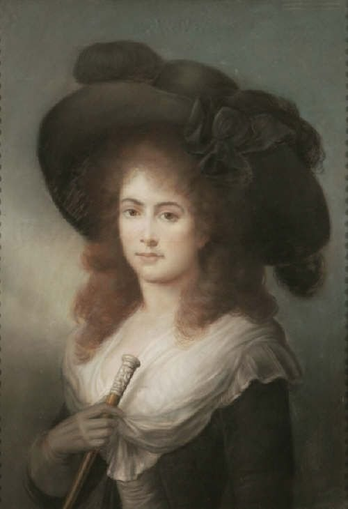 soldportrait of a lady c1785 thought to be georgiana