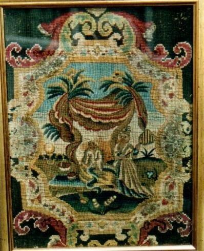 needlework panel c 1750