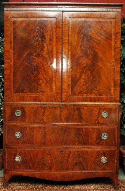 late georgian mahogany press c1800