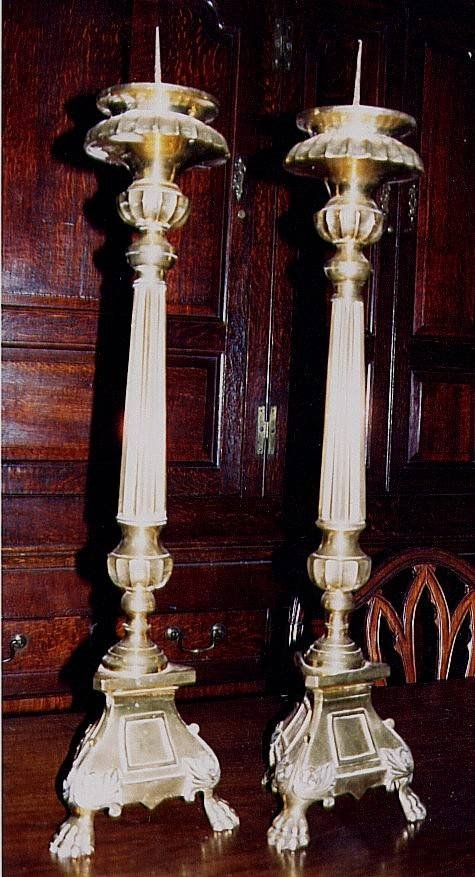 pair of 19th c candlesticks