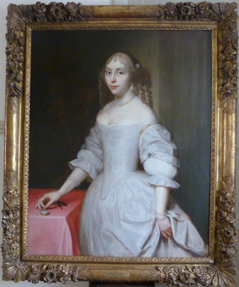 portrait of a lady possibly elizabeth trentham viscountess cullen c1660 circle or studio of lely