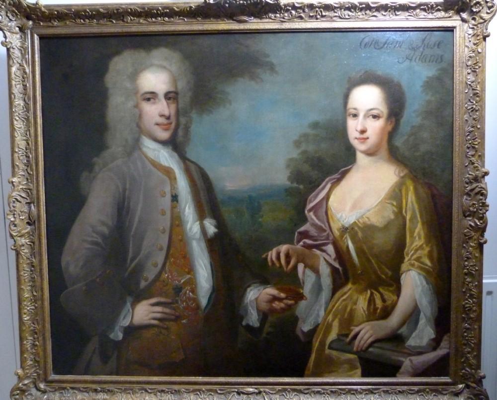 double portrait of colonel and mrs adams c1720 studio of philip mercier