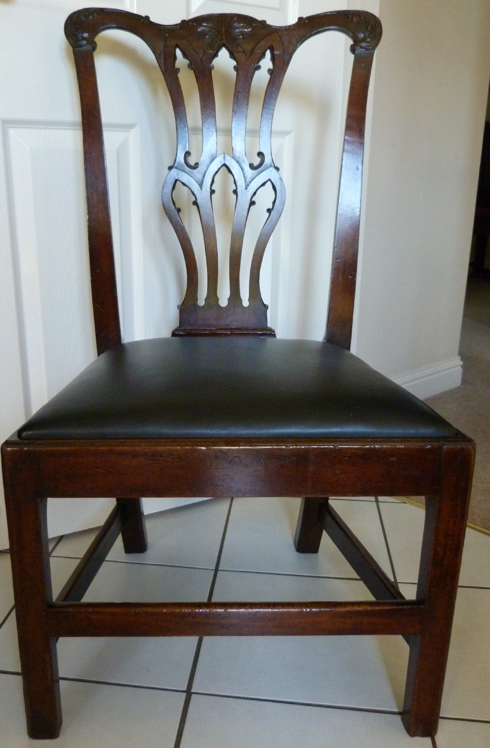 george iii chippendale period mahogany chair c1760