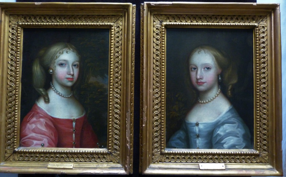 pair of portraits of two girls of the howard family c1650 attributed to remigius van leemput